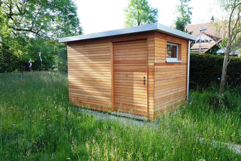 gartenhaus l rchenholz baumberger bau ag. Black Bedroom Furniture Sets. Home Design Ideas