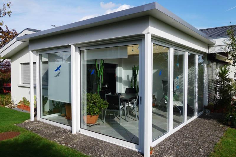 beheizter wintergarten anbau baumberger bau ag. Black Bedroom Furniture Sets. Home Design Ideas